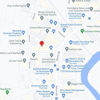 Map to Carnarvon Road